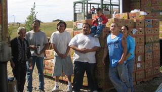 Work crew at Crown Point, New Mexico