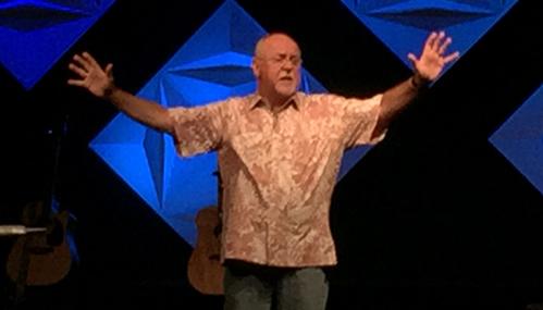Rick McPherson preaching the Word